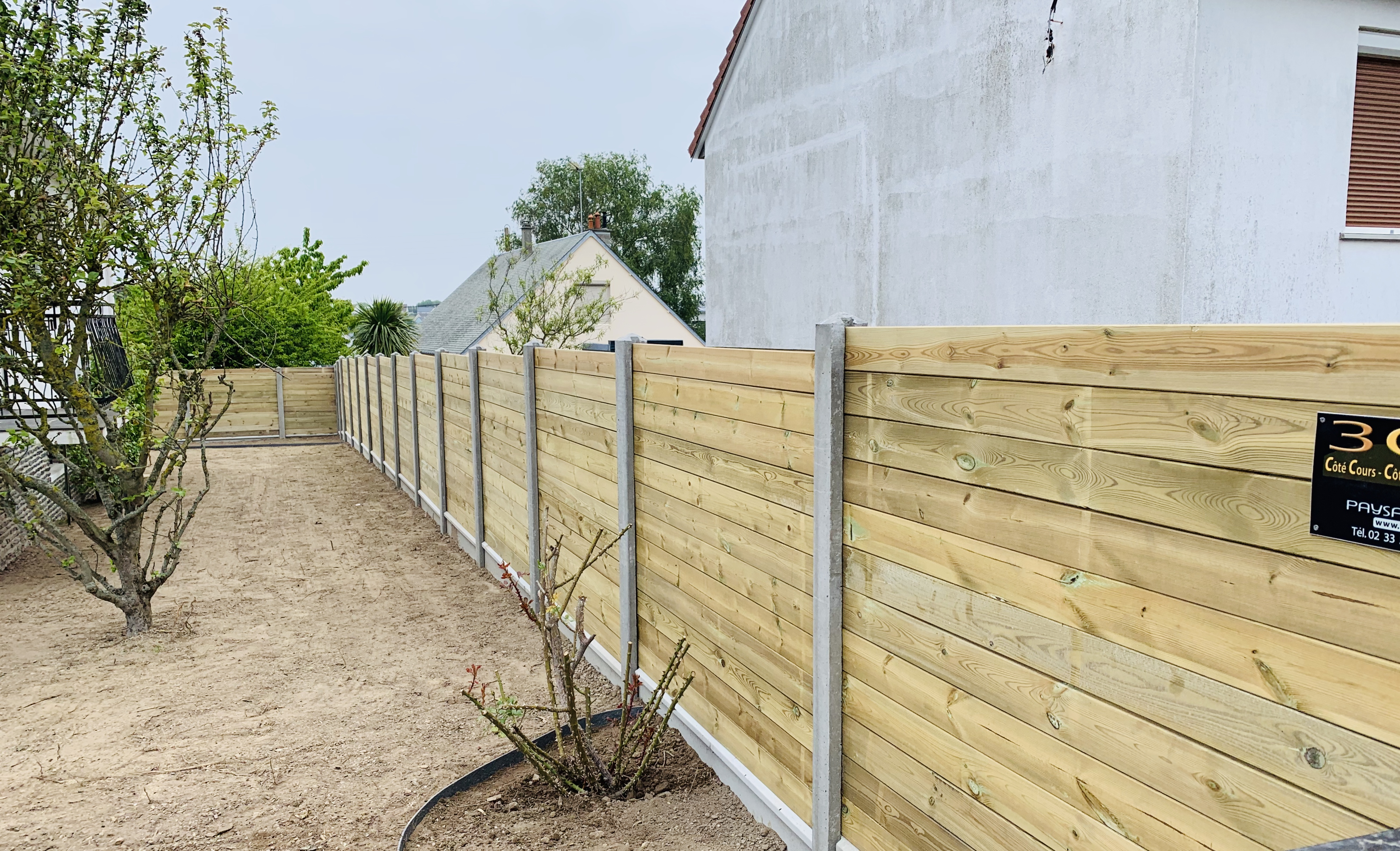 lame de clôture bois et aluminium
