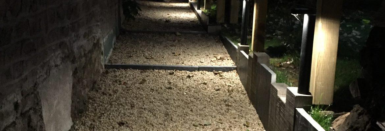 Pose d'éclairage d'extérieur de jardin à Granville